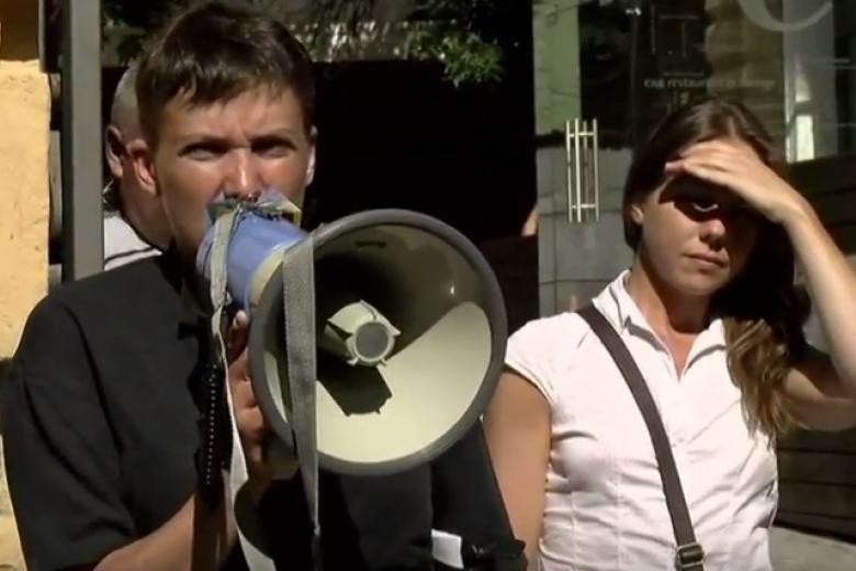 Под Администрацией президента прошел «митинг Савченко»