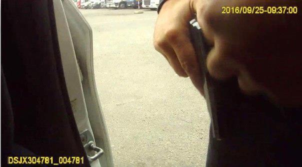Размещены скриншоты снагрудной камеры погибшего полицейского вДнепре