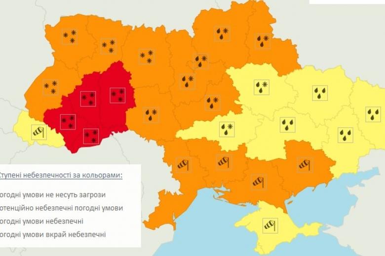 Погода на завтра в м. вінниця