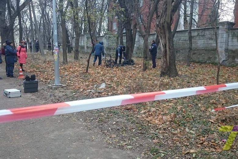 ВОдессе впарке обнаружили сгоревший труп винвалидной коляске