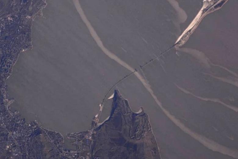 Масштабы возведения Крымского моста впечатляют даже изкосмоса— Космонавт Олег Новицкий