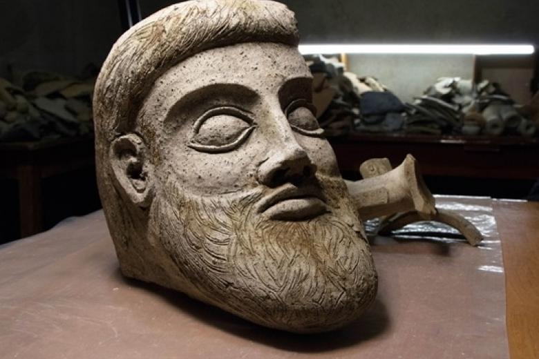 При строительстве Крымского моста нашли голову древнегреческой статуи