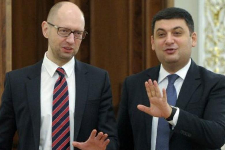 Яценюк: «Народный фронт» небудет голосовать заотставку Кабмина Гройсмана