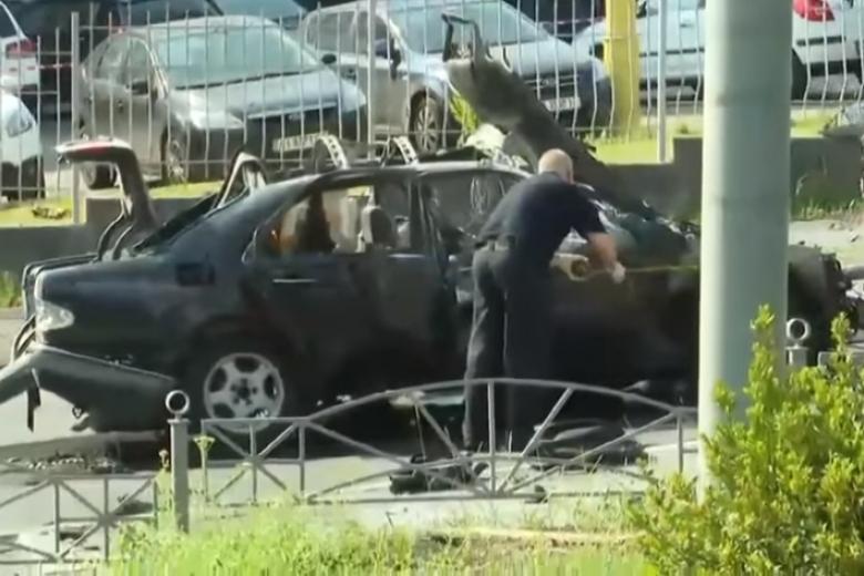При взрыве автомобиля вКиеве умер работник Минобороны Украины