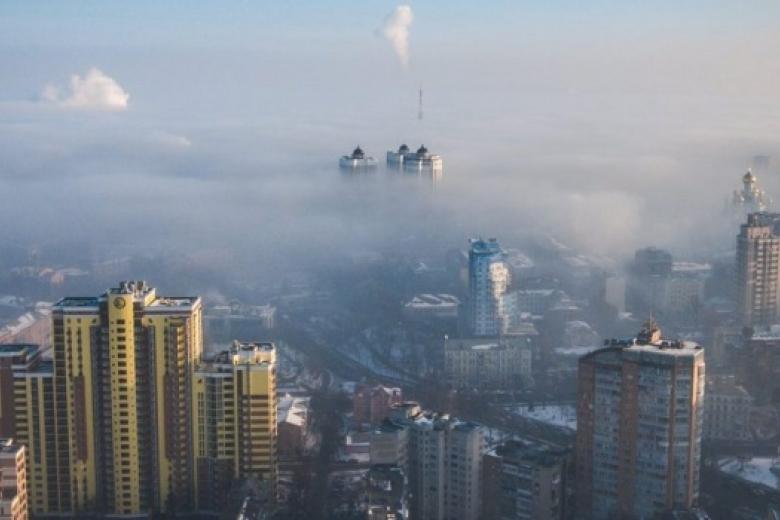 Внекоторых районах столицы Украины загрязнение воздуха превосходит норму в пару раз
