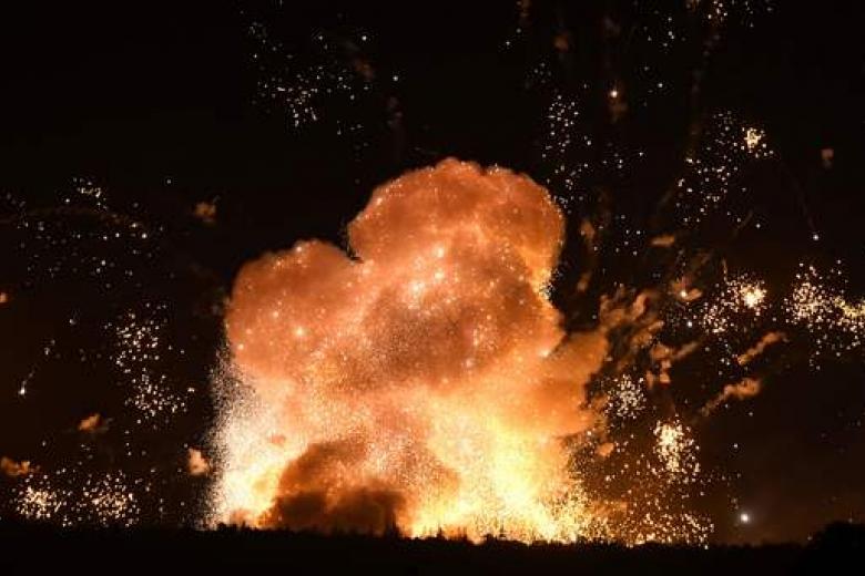 Размещено видео взрывов наскладах ВСУ под Винницей